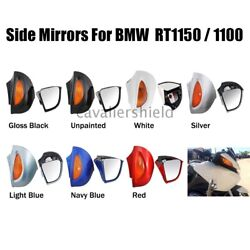 Pair Rearview Mirror Amber Turn Signal Lens Fit For Bmw R1100rt R1150rt R1100rtp