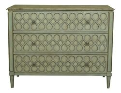 49313ec Hickory Chair Co Decorative 3 Drawer Commode Chest W. Marble Top