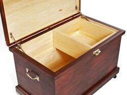 Handmade Large Tack Trunk Made From Solid Wood Blanket Chest Box
