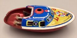 Pop Pop Boat P-7 Retro Tin Metal Toy Litho Candle Steam Power Vintage