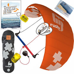Hq4 Rush V Pro 350 3.5m Trainer Kite Kiteboarding Surf Snow + The Way To Fly Dvd