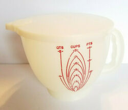 Tupperware Mix-n-stor 8 Cup 2 Qt 4 Pts Measuring Mixing Bowl Pitcher And Lid 500-2