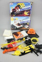 Vintage Ideal Erector Set Defense Tank And Mega Claw Construction Toy 1983 Boxes