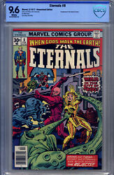 Eternals 8 Cbcs 9.6 White Pages Jack Kirby 1977 - 2 1st Appearances