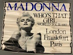 Madonna Whos That Girl World Tour 1987 Vintage A0 Size Poster Paper Concert