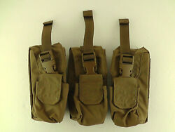 Lot Of 3 New Tactical Tailor Padded Molle Radio Pouch Holster Coyote Tan Brown