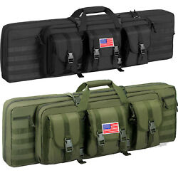 36 42 Tactical Double Padded Carbine Rifle Range Gun Case Bag Hunting Backpack