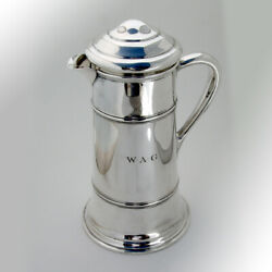 Cocktail Shaker Pitcher Frank Whiting Sterling Silver Mono Wag