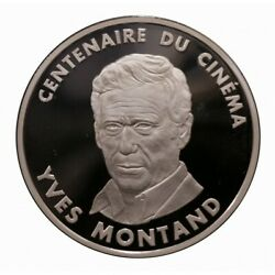 1995 France 100 Francs Cent.cinema Yves Montand. Silver Proof Mf40420