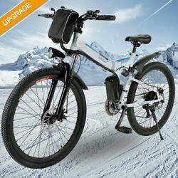 26and039and039 Electric Bike Mountain Bicycle City Folding Ebike 21speed 350w Battery Usa