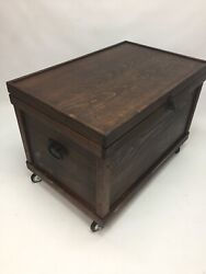Handmade Large Tack Trunk Made From Solid Wood Blanket Chest Toy Box