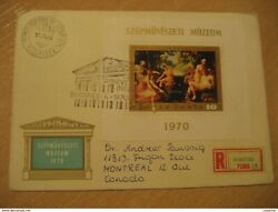 Budapest 1970 Yvert Notepad 82 Nudes Painting Peinture New Nus To Montreal Can