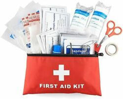 100 Pieces First Aid Kit All Purpose Premium Medical Supplies and Emergency Bag