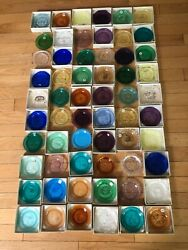 New Bedford Glass, Pairpoint Cup Plates Lot Of 60 Birds Brownie Church Greek