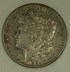 1904-s Morgan Dollar. Anacs Ef45. Well Preserved. Scarce Date.