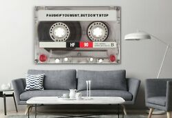 Pause But Donand039t Stop Music Old Stereo Cassette Canvas Dandeacutecor Art Print Room Wall