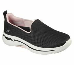 Skechers Shoes Black Pink Go Walk Arch Fit Womenand039s Slip On Comfort Mesh 124401