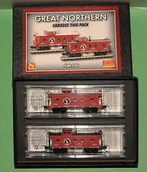 Micro-trains 993 02 060 Gn Great Northern Caboose Two Pack N-scale