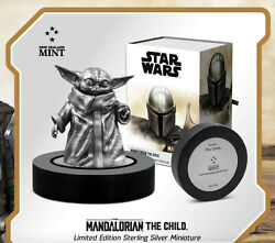 Star Wars The Child The Mandalorian Coa5 Of 1000 150g Sterling Silver Nz Mint
