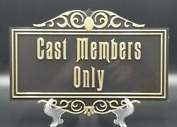 11 Haunted Mansion Inspired Cast Members Only Prop Sign / Plaque Replica