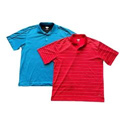 Lot Of 2 Callaway Mens 2xl Golf Polo Shirts Golf Casual Lounge Blue And Coral Xxl