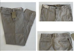 Incotex Italy Iconic Slacks Stretch Cotton Slim Fit Trousers Chinos Pants 33