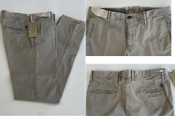 Incotex Italy Iconic Slacks Stretch Cotton Slim Fit Trousers Chinos Pants 35