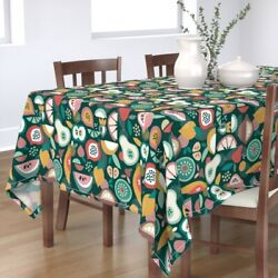 Tablecloth Pear Watermelon Apple Fruits Strawberry Cooking Cotton Sateen