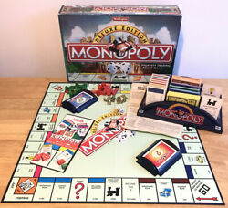Waddingtons Monopoly Deluxe Edition 1996 - Wooden Hotels - Boxed Complete