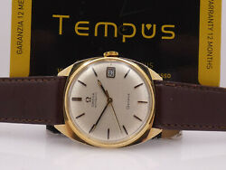 Omega Geneve Automatic Date 162-91003 18 Kt Gold Year 1970 Menand039s Watch