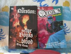 Dc Comics The Question Tpb Lot. Pipeline And Five Books Of Blood