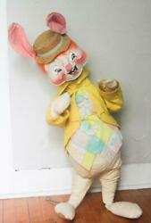 Vintage Annalee Mobilitee Country Easter Bunny Boy Rabbit 1971 35 High