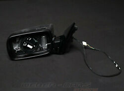 7890825 Exterior Mirror Heated Left Without Glass Gloss Black New Oem Bmw 3er