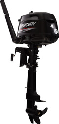 Mercury 4 Mlh 4s Outboard New W/ 3yr Factory Warr
