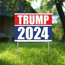 Trump 2024 Yard Sign Corrugate Plastic With H-stakes Lown Sign President