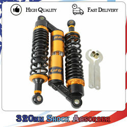 2 Pcs 320mm 12.5 Air Rear Shock Absorbers Suspension Fit For Ducati Harley