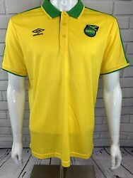 Umbro Jamaica National Team Home 18/19 Soccer Jersey Yellow Size Large