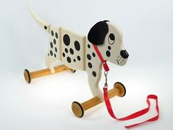 Spotty The Dog Wooden Pull Toy Dalmatian Childrens Applepie Pull-a-long Toys