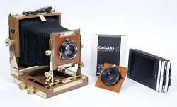 Zone Vi Gold Plated 4x5 Field Camera With 150mm + 210mm Lenses + Holders + Film