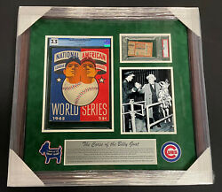 1945 World Series Framed Program And Ticket Cubs Piece The Curse Of The Billy Goat