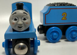 Thomas Wooden Edward Near Mint Vintage Train Set Engine Out Of Puff Tired Face