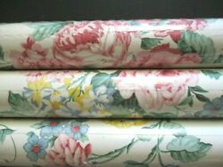 3 Rolls Vintage Waverly 556940 Pink Rose Floral Wallpaper 60.75 Sq Ft 27 X 27and039