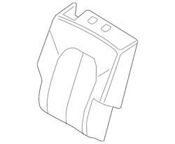 Genuine Ford Cover Assembly - Rear Seat Back Jl7z-7866601-ma