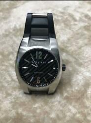 Bvlgari Ergon Stainless Steel Black Dial Automatic Winding Carbon Men's Watch