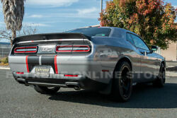 Fit 08-up Dodge Challenger Hellcat Redeye Style Abs Rear Trunk Spoiler Lid Wing