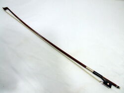 Made In Germany Fraction 1/2 Horn Bow Ernst Fischer Violin Hair Has Been Changed