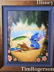 Negotiations Welcome Disney Fine Art Mahalostic Rogerson Autographed Framed With