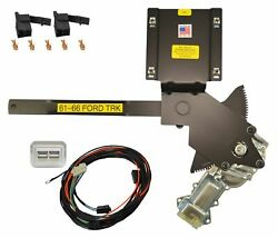 1961-1966 Ford Truck Front Door Power Window Kit W Nostalgic Switches Console