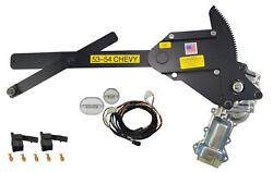 1953-1954 Chevy 2dr Front Door Power Window Kit With Ftfg Switches For Door