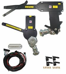 1958 Impala 2dr H-top Front And Rear Power Window Kit W/ Ftfg Switches For Console